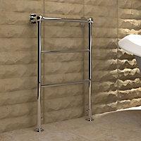Kudox Penswick 159W Silver Towel warmer (H)850mm (W)575mm