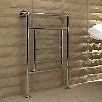 Kudox Vera 210W Silver Towel warmer (H)840mm (W)575mm