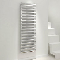 Kudox Vectis 592W Silver Towel warmer (H)1500mm (W)500mm