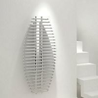 Kudox Sole Vertical Radiator Chrome (H)1300 mm (W)600 mm