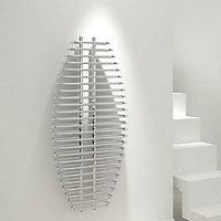 Kudox Sole Vertical Radiator, Chrome effect (W)600mm (H)1300mm