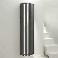 Kudox Tallos Vertical Designer radiator Anthracite (H)1800 mm (W)500 mm
