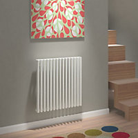 Kudox Xylo Vertical Designer radiator White (H)600 mm (W)580 mm