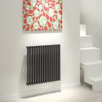 Kudox Xylo Vertical Designer radiator Anthracite (H)600 mm (W)580 mm
