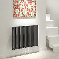 Kudox Xylo Horizontal Designer radiator Anthracite (H)600 mm (W)780 mm