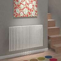 Kudox Xylo Horizontal Designer radiator White (H)600 mm (W)980 mm