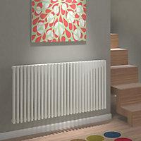 Kudox Xylo Horizontal Designer radiator White (H)600 mm (W)1180 mm