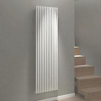 Kudox Xylo Vertical Designer radiator White (H)1800 mm (W)500 mm