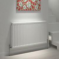 Kudox Type 21 double plus Panel radiator White, (H)700mm (W)800mm