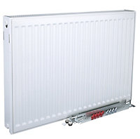 Kudox Type 22 double Panel radiator White, (H)400mm (W)1200mm