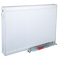 Kudox Type 22 double Panel radiator White, (H)300mm (W)2000mm