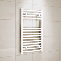 Kudox 250W Electric White Towel warmer (H)700mm (W)400mm