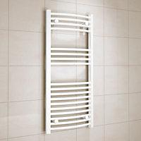 Kudox 366W Electric White Towel warmer (H)1000mm (W)450mm