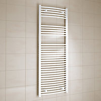 Kudox 805W Electric White Towel warmer (H)1600mm (W)600mm
