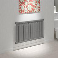 Kudox Elmas Horizontal Designer radiator Anthracite Matt (H)600 mm (W)970 mm