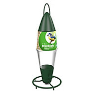 Peckish Plastic Seed & nyger Hanging Bird feeder 0.6L