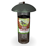 Peckish Secret garden Steel Peanut Bird feeder 0.7L