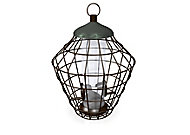 Peckish Secret garden Steel Seed Squirrel proof Bird feeder 0.7L