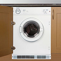 Cata TDS60W White Built-in Tumble dryer, 6kg