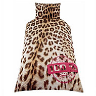 Skybrands Leopard print Multicolour Single Bedding set