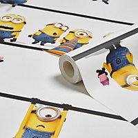 Minions Multicolour Wallpaper