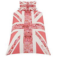 Skybrands Union jack flower Pink Single Bedding set