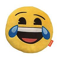 Emoji Happy tears Yellow Cushion