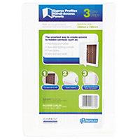 Gyproc Profilex White Plastic Access panel, (H)225mm (W)150mm