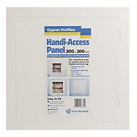 Gyproc Profilex White Plastic Access panel, (H)300mm (W)300mm