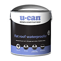 U-Can Black Flat roof water proofer 2500ml