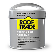 Rooftrade Solvent-based Black Roofing felt Adhesive 2.5L