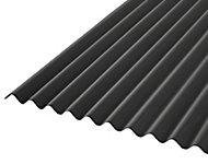 Corrubit Black Bitumen Corrugated Roofing sheet (L)2m (W)930mm (T)2.2mm