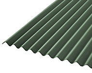 Corrubit Green Bitumen Corrugated Roofing sheet (L)2m (W)930mm (T)2.2mm