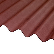 Corrubit Red Bitumen Corrugated Roofing sheet (L)2m (W)930mm (T)2.2mm