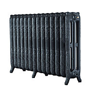 Arroll Montmartre 3 Column Radiator, Pewter (W)1154mm (H)760mm