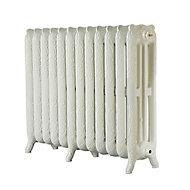 Arroll Montmartre 3 Column radiator, Cream (W)994mm (H)760mm