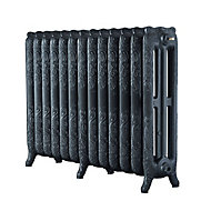 Arroll Montmartre 3 Column Radiator, Anthracite (W)1074mm (H)760mm