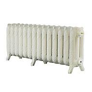 Arroll Montmartre 3 Column radiator, Cream (W)1154mm (H)470mm