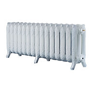 Arroll Montmartre 3 Column radiator, White (W)1234mm (H)470mm