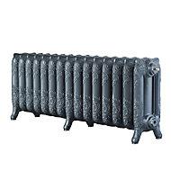 Arroll Montmartre 3 Column radiator, Cast grey (W)1234mm (H)470mm