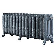 Arroll Montmartre 3 Column radiator, Cast grey (W)1154mm (H)470mm