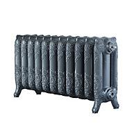 Arroll Montmartre 3 Column radiator, Cast grey (W)914mm (H)470mm