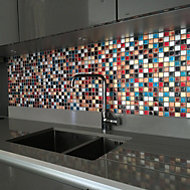 Ibiza Multicolour Glass Mosaic tile, (L)300mm (W)300mm