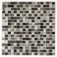 Bruges Grey Glass Mosaic tile, (L)300mm (W)300mm