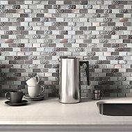Chelsea Grey Copper effect Glass & stone Mosaic tile sheets, (L)298mm (W)304mm