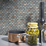 Shoreditch Copper effect Natural stone Mosaic tile sheets, (L)298mm (W)304mm