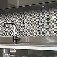 Antwerp White Glass Mosaic tile sheets, (L)300mm (W)300mm