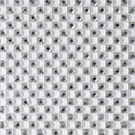 White Glass Wall tile, (L)300mm (W)300mm