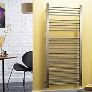 Accuro Korle Centurion 794W Electric Silver Towel warmer (H)1500mm (W)580mm