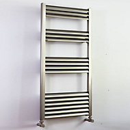 Accuro Korle Champagne 456W Electric Silver Towel warmer (H)1000mm (W)500mm
